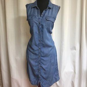 J. Jill Chambray Button Up Dress